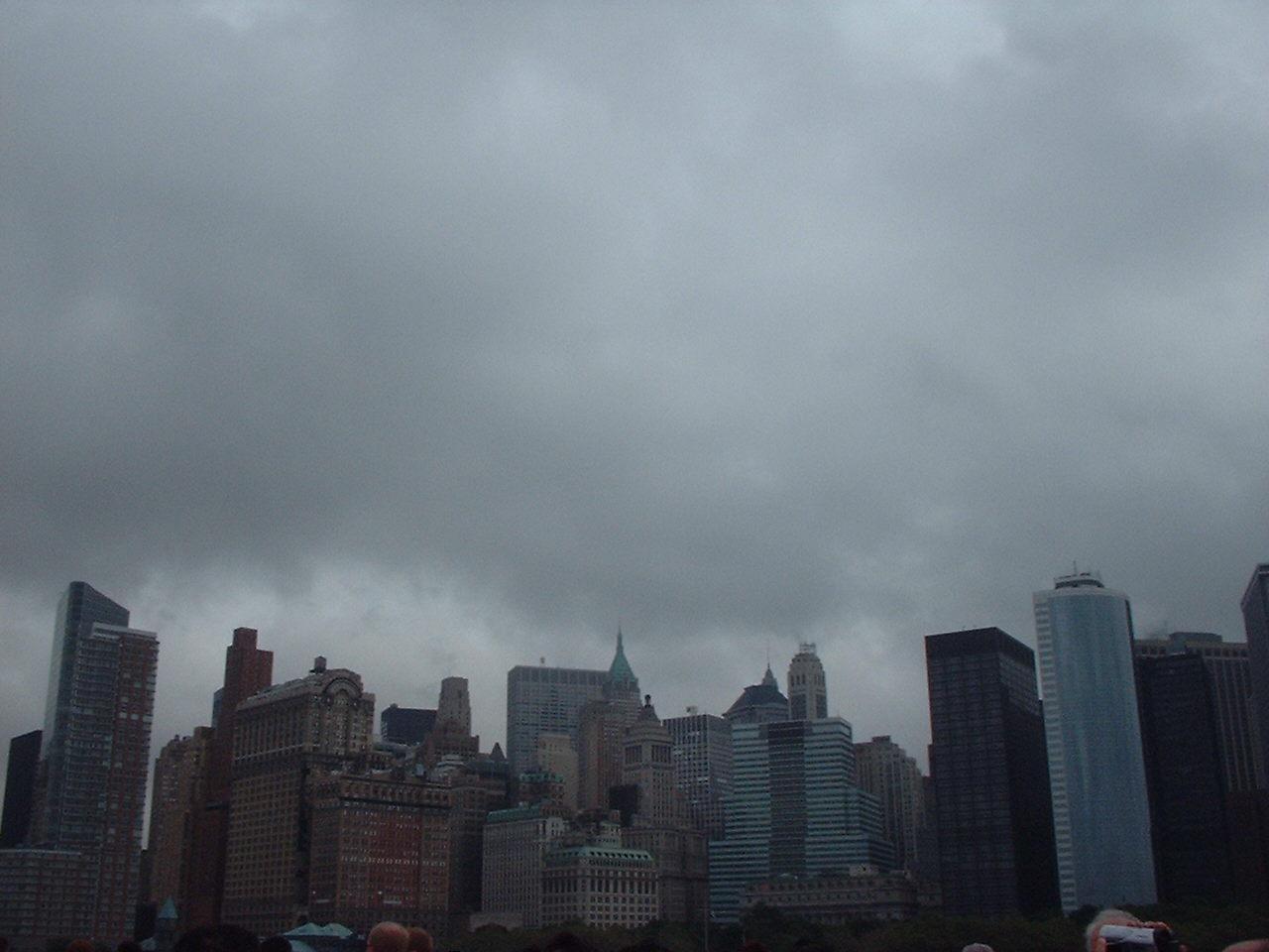 リバティ行き船中からのマンハッタン