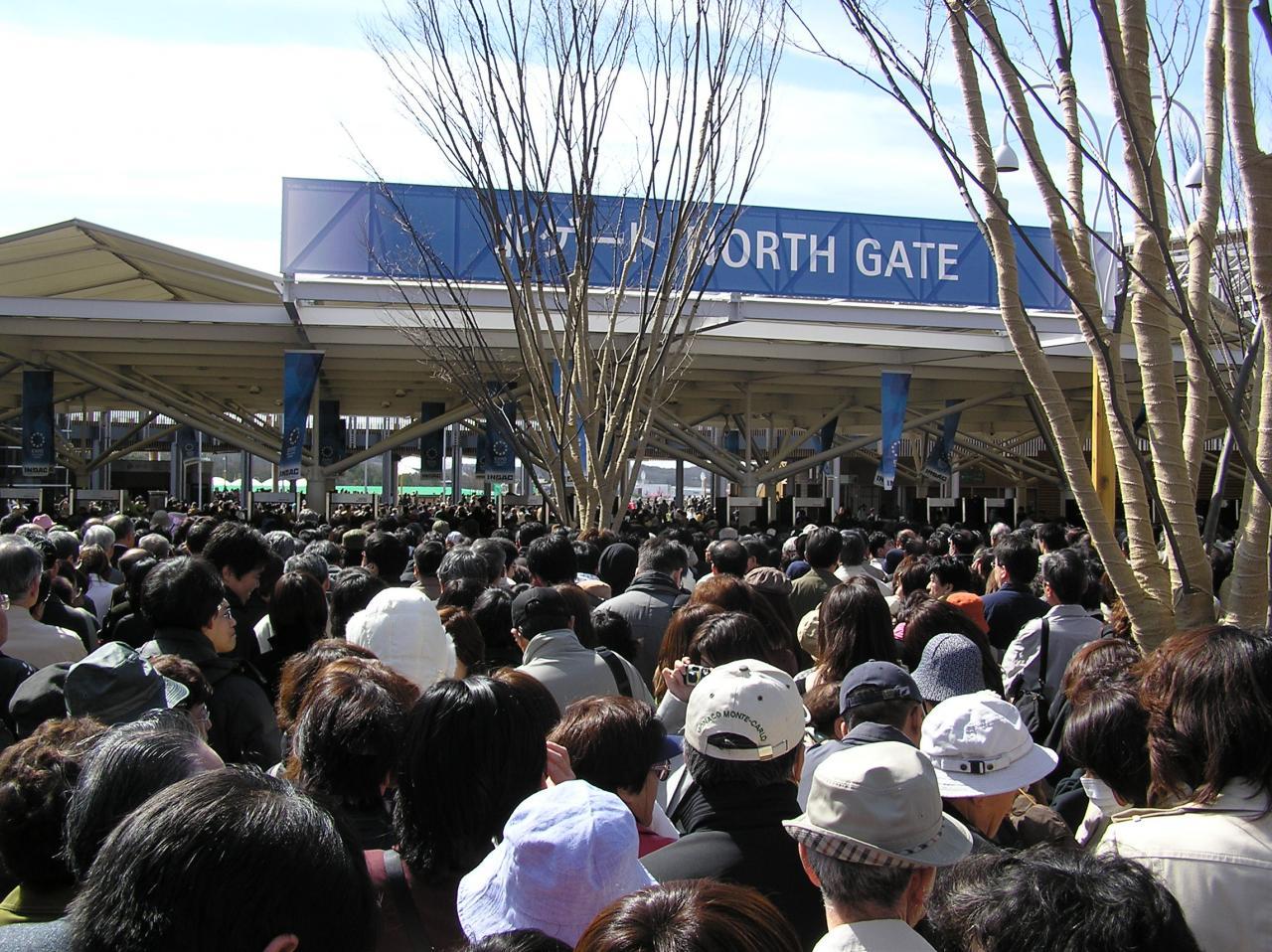 仕方ないので北ゲートに並ぶ