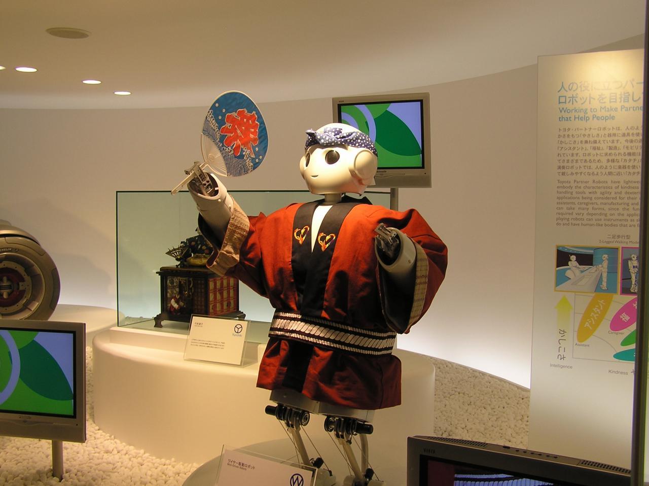 トヨタグループ館の展示ロボット