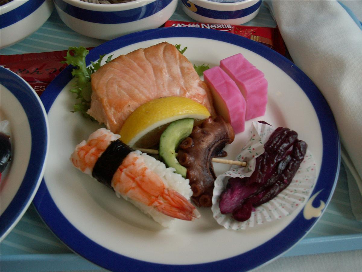 東京へ中国国際航空(CA)機内食(和洋折衷)