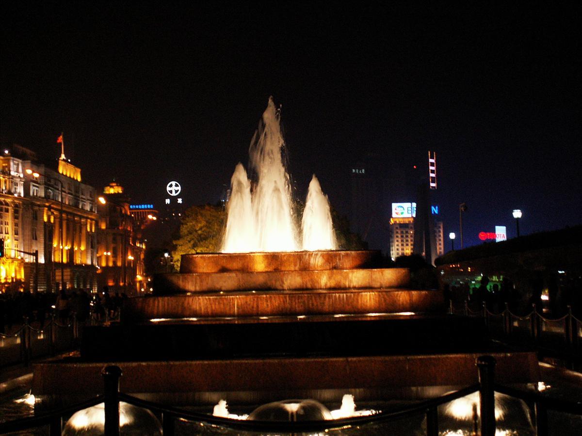 記念撮影スポットの噴水