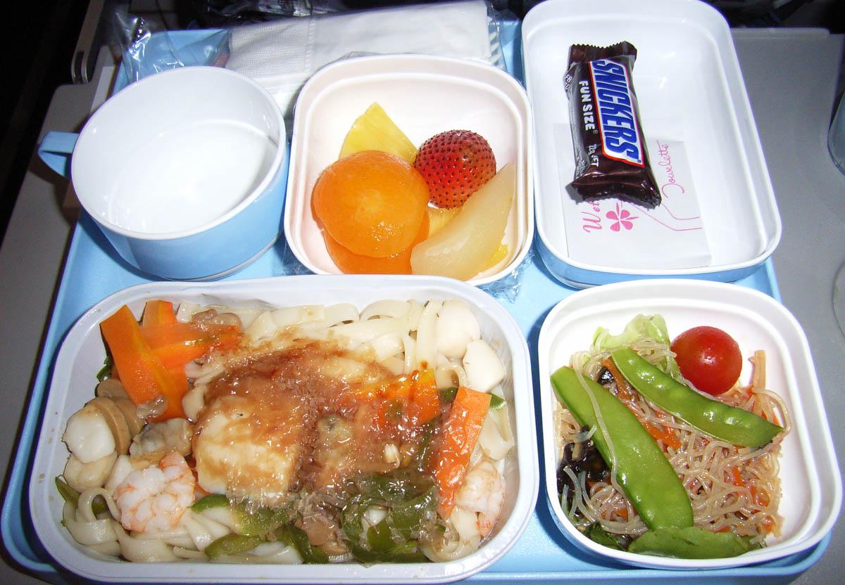 中国国際航空(CA)422便の機内食
