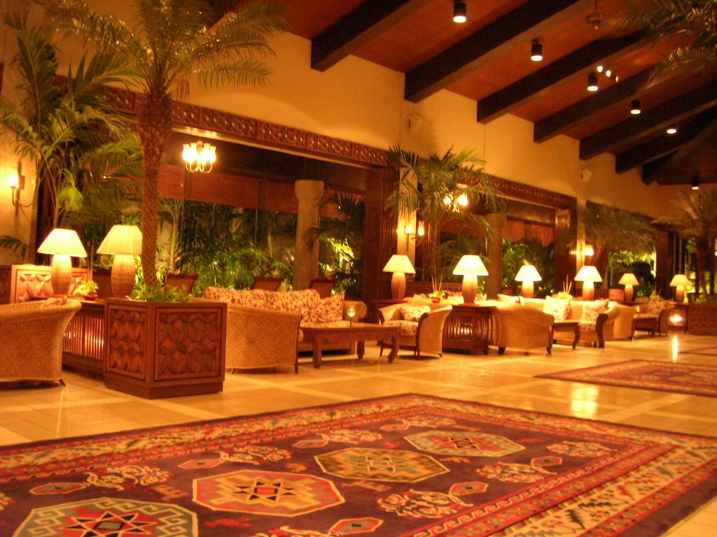 アクアリゾートホテル、フロントロビー