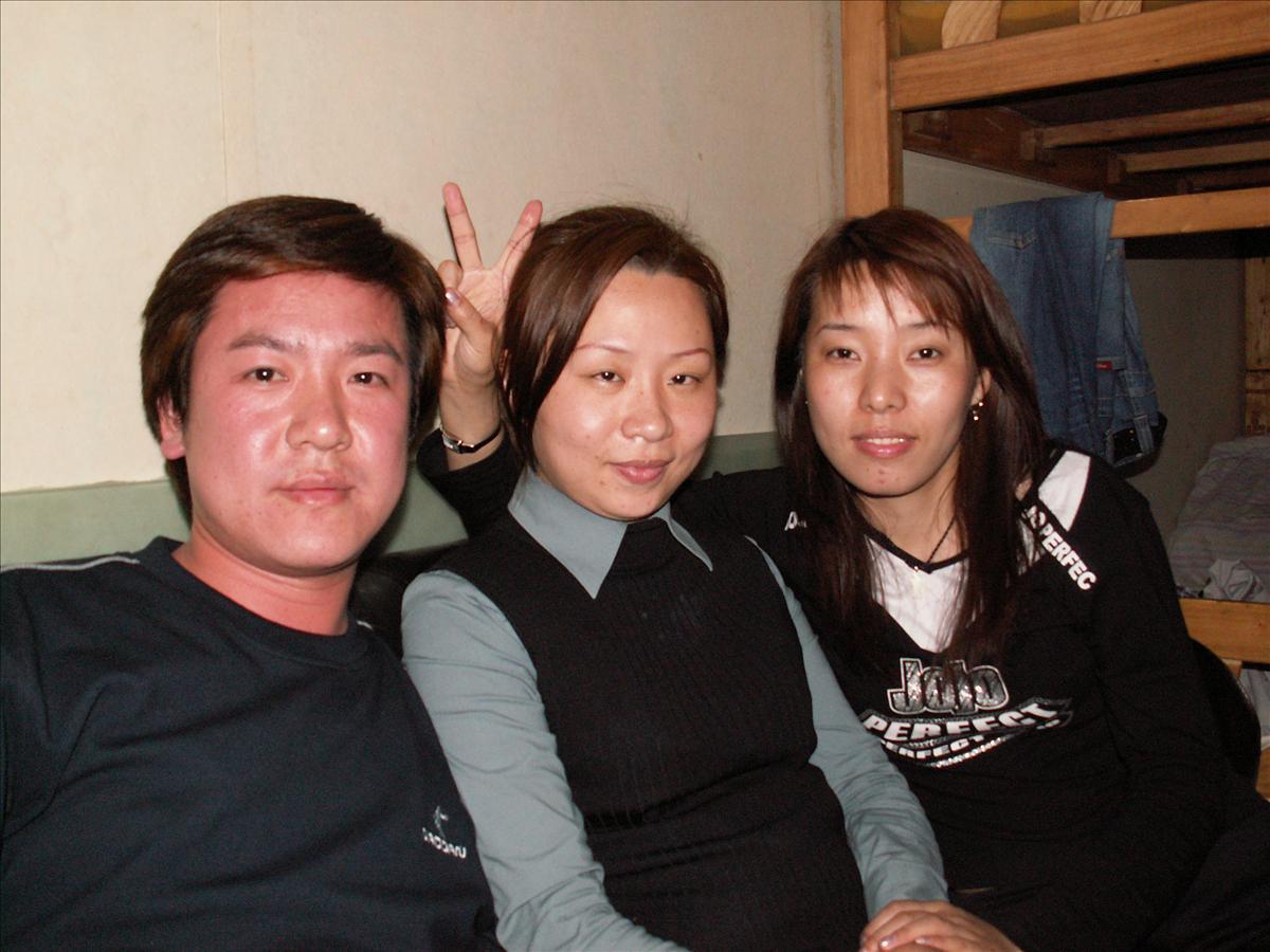 上海の友人宅にて