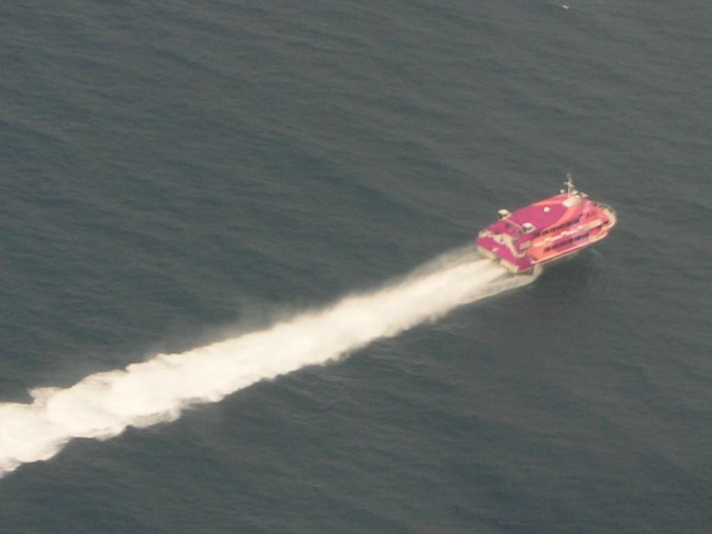 大島からの高速船