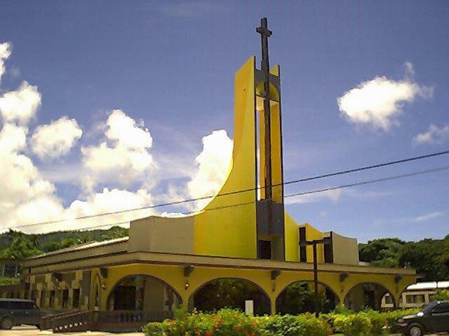 サイパンガラパン近くの教会