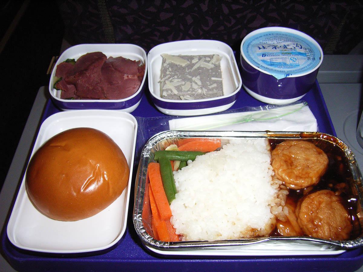 中国東方航空(MU)271便の機内食(1)