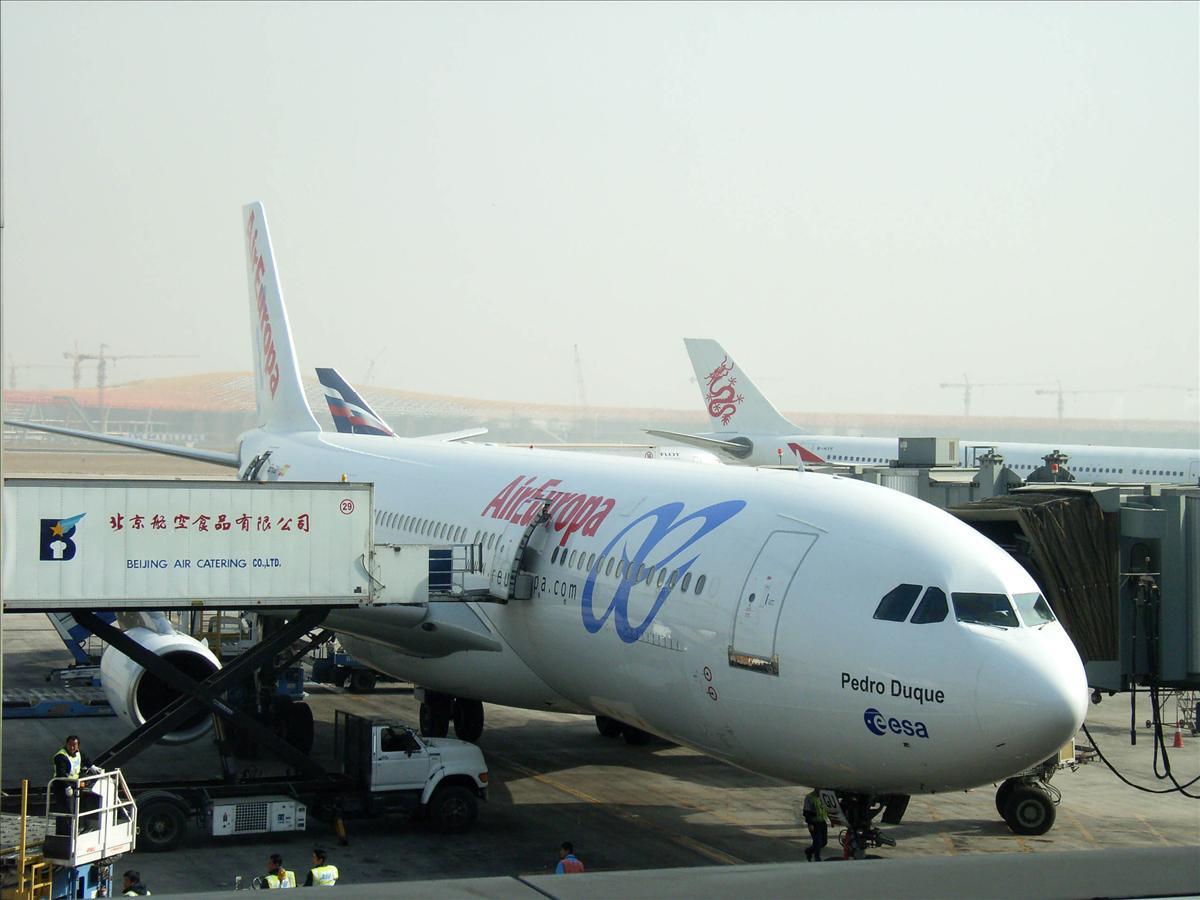 北京空港エアヨーロッパマドリード往き