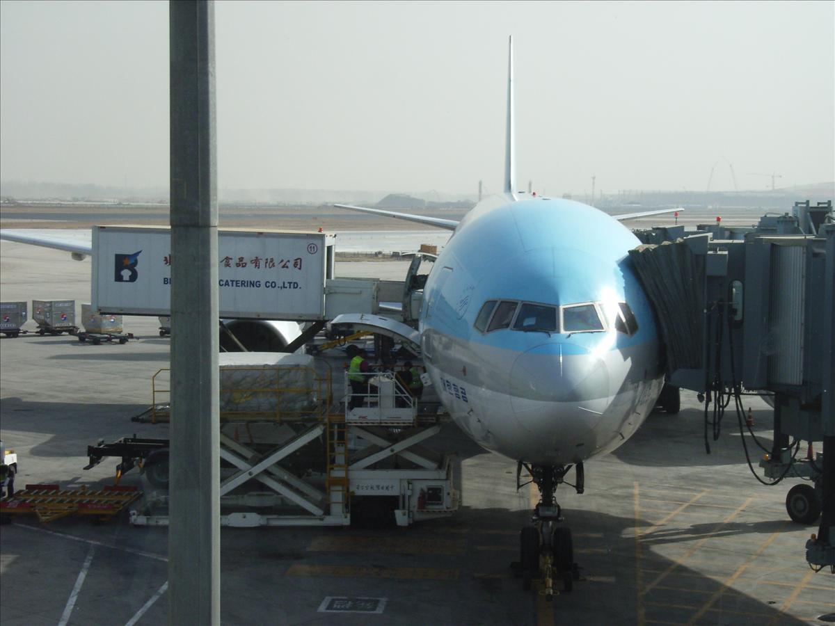 北京空港 大韓航空ソウル往き