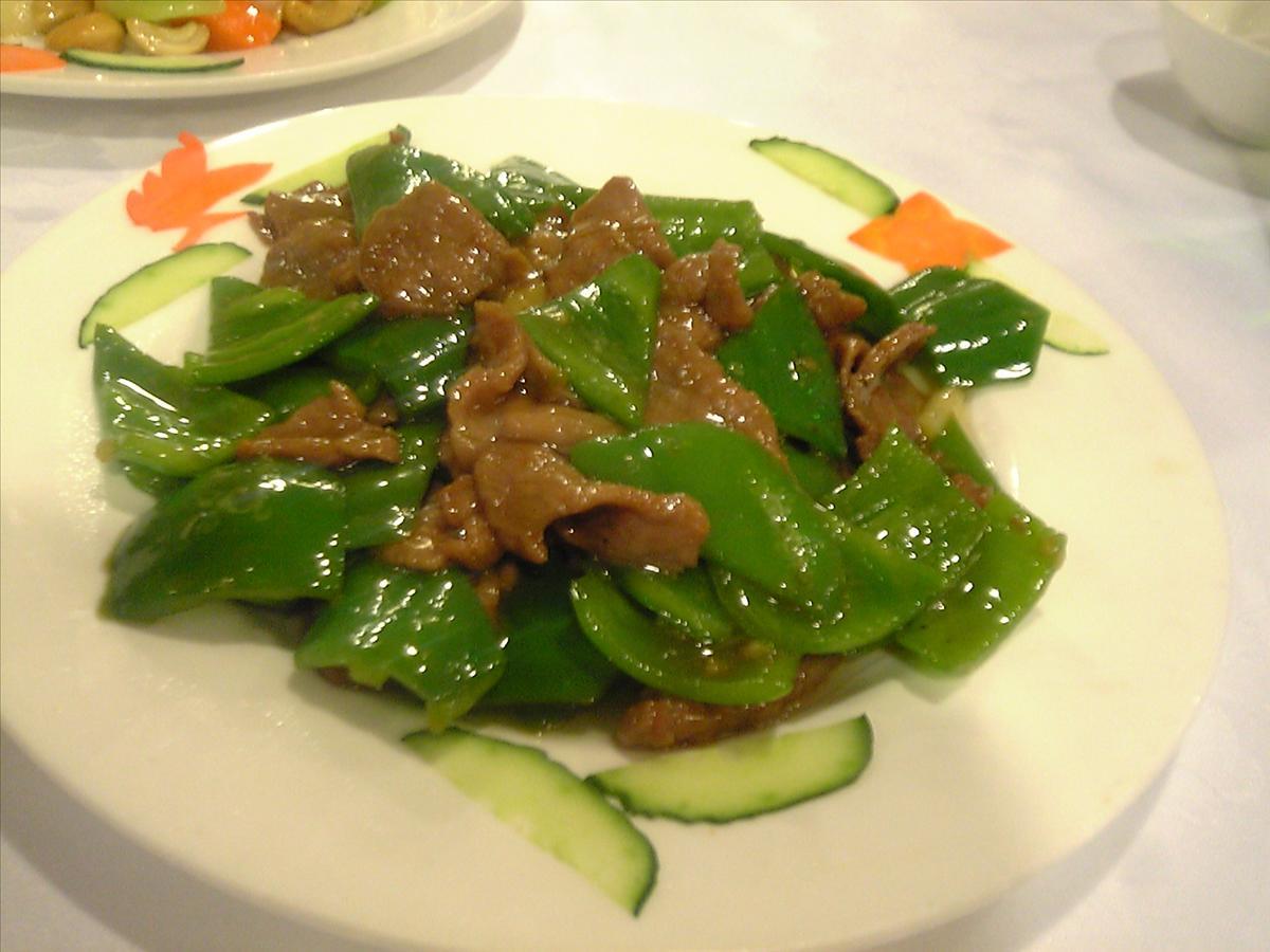 青椒と牛肉炒め