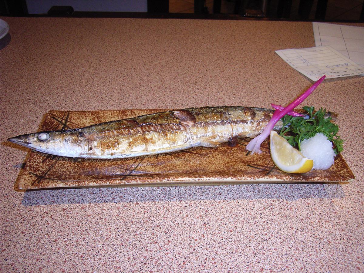 北京で食べた秋刀魚の塩焼き