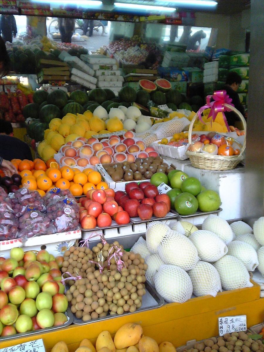 上海フルーツ店