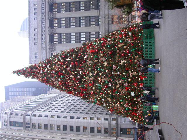 シカゴのクリスマスツリー