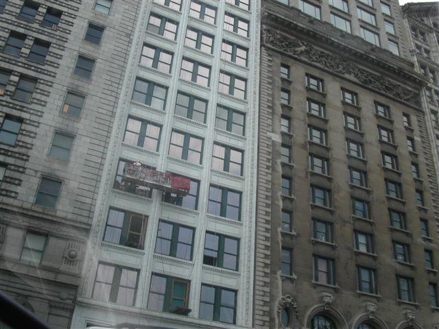 シカゴ ビルの窓ふき