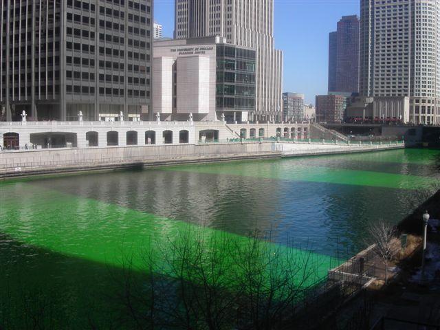 シカゴ St Patrick's Day シカゴ川