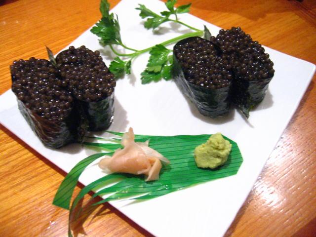 キャビア寿司