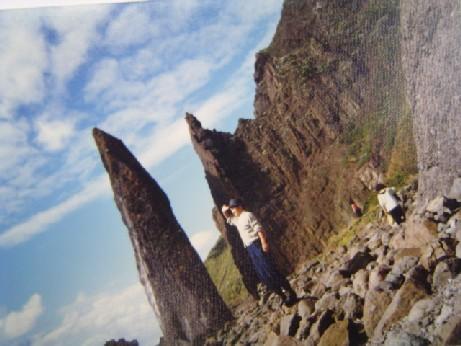 地蔵岩にて