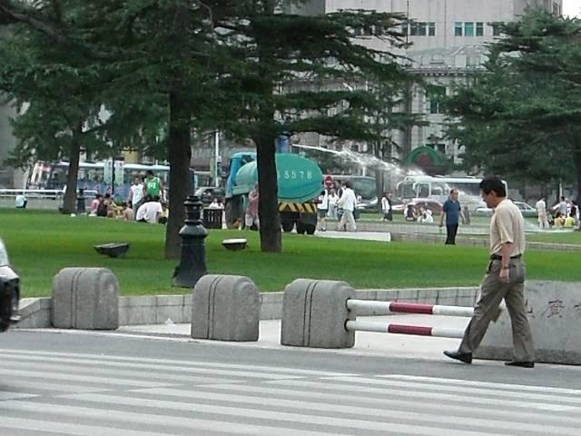 中山広場夕方