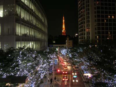 けやき坂からの東京タワー