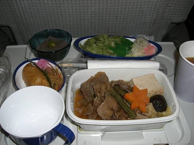 日本航空(JAL)すき焼き風機内食