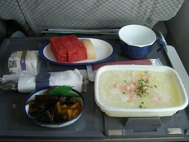 日本航空(JAL)機内食海老粥 1