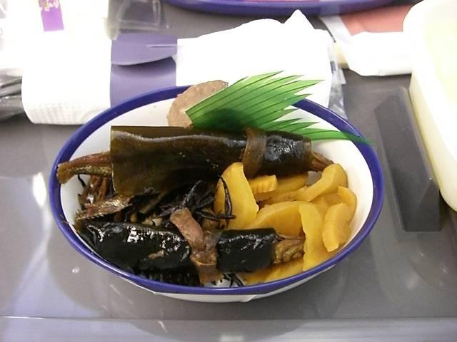 日本航空(JAL)機内食海老粥 2