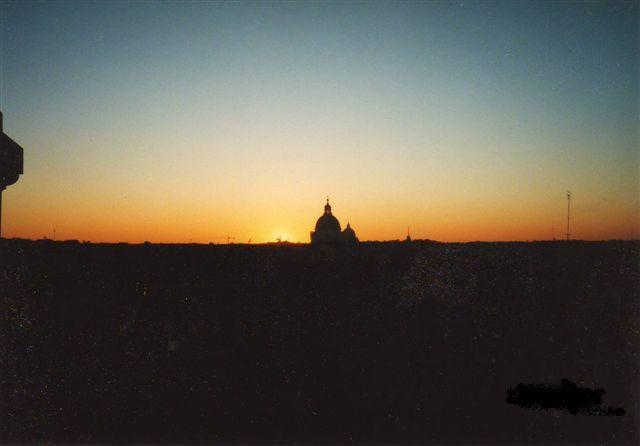 ローマの夕日