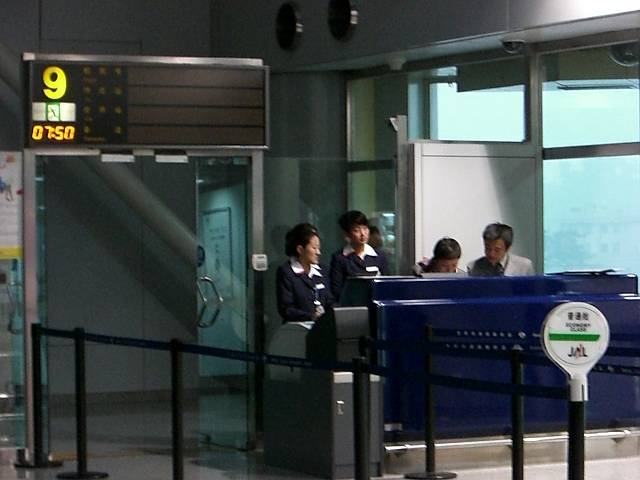日本航空(JAL)780便搭乗ゲート