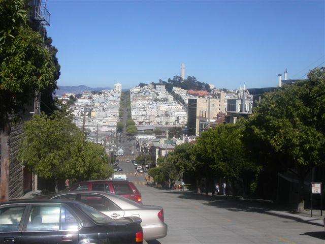 サンフランシスコの坂道