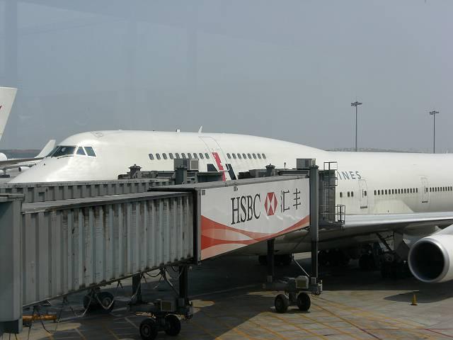 北京首都空港(北京空港)に着陸したJL781便