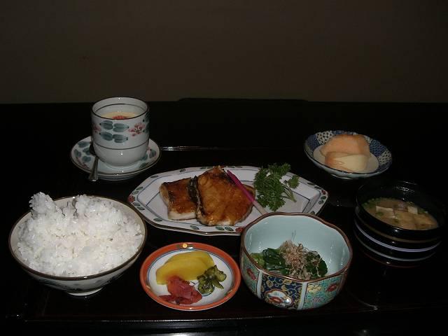 北京国際飯店 日本料理店 八幡 銀ダラ定食