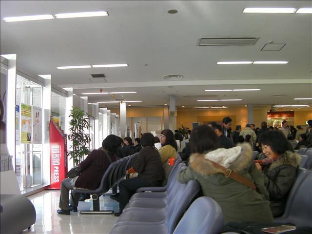 羽田空港国際線ターミナル待合室