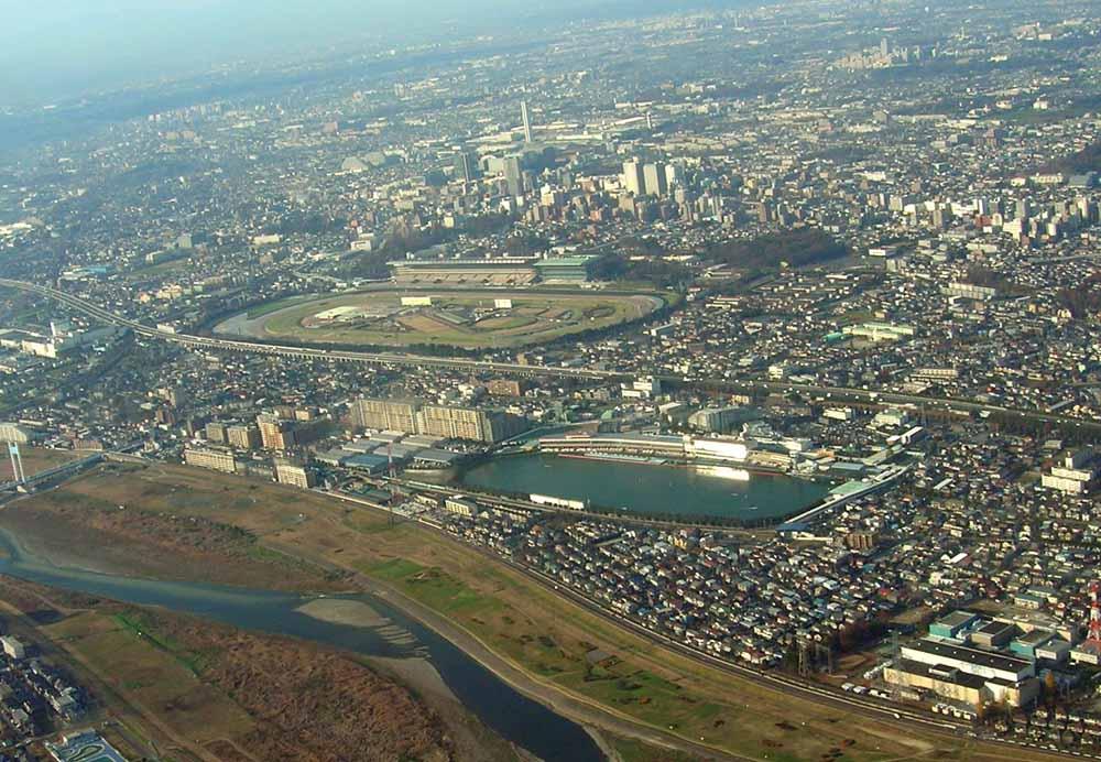 府中競馬場と多摩川競艇