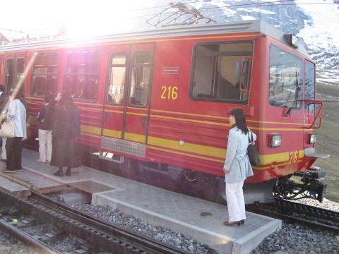 スイスアルプスの登山列車2