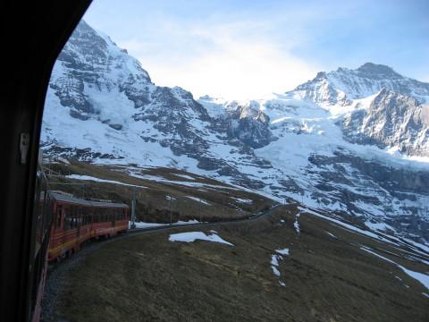 スイスアルプスの登山列車から2(終盤)