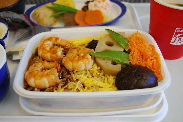 JL(日本航空)604便機内食