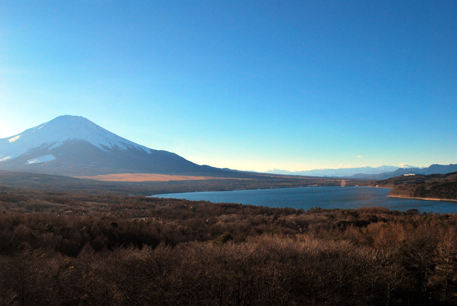 富士山と山中湖遠望