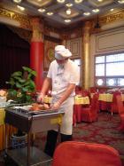 北京ダックの調理