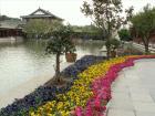 九龍湖の畔