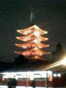 夜の五重塔