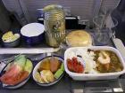 カレーの機内食