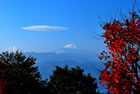 陣馬山から見た富士山...
